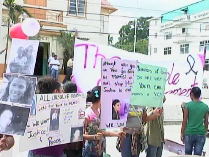 UB students protest increased crime against children