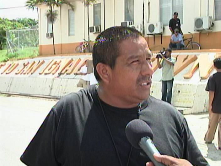 Igniting a peaceful demonstration against crime in Cayo